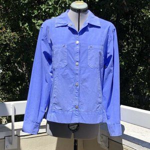 Fresh Produce Broadcloth Jacket Periwinkle Blue